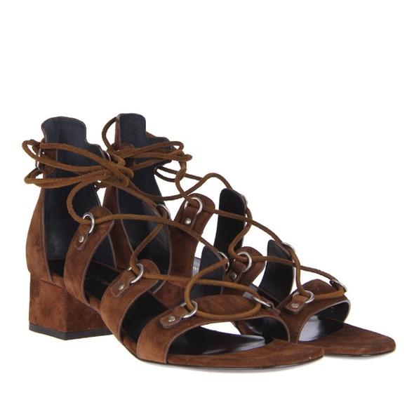 saint laurent suede sandals